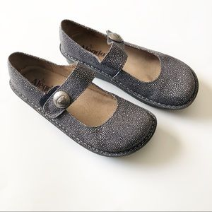 Alegria Paloma Black and Grey Mary Jane Shoes